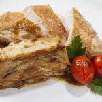 Krůtí maso s chorvatskou těstovinou Mlínci